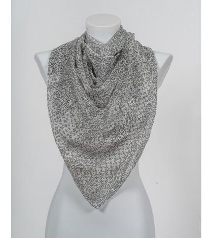 Eșarfă Grey Abstract Beauty Mătase