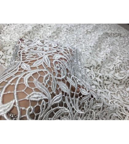 Dantelă macrame albă de Biella